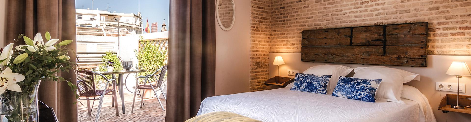 Hotel casa de col n hoteles con encanto en sevilla for Como reservar una habitacion en un hotel